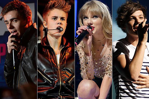 Nathan Sykes Justin Bieber Taylor Swift Louis Tomlinson