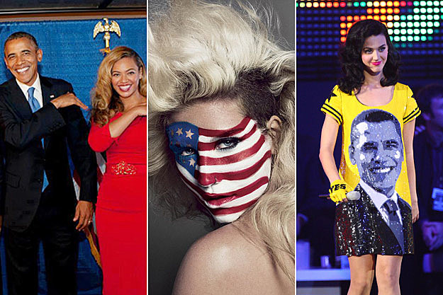 Pop Stars Show Off Patriotism Prior to 2012 Election – Picture Perfect