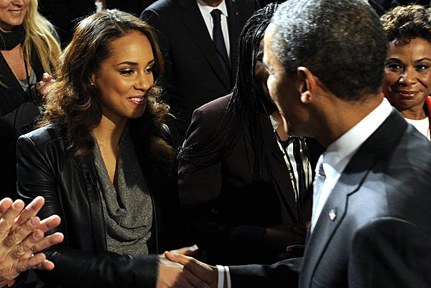 Alicia Keys President Barack Obama