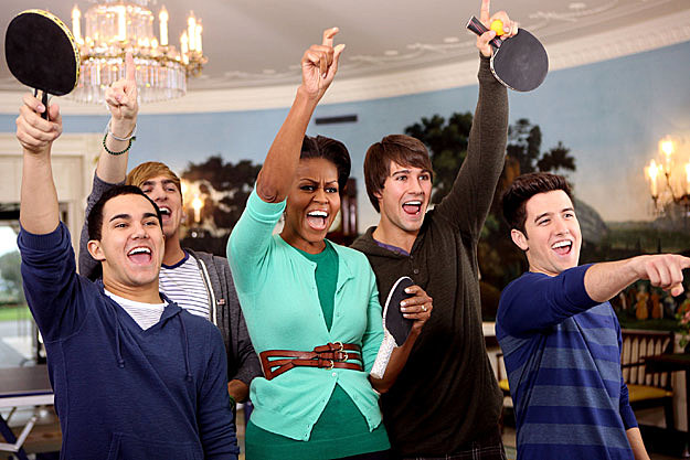 First Lady Michelle Obama Big Time Rush