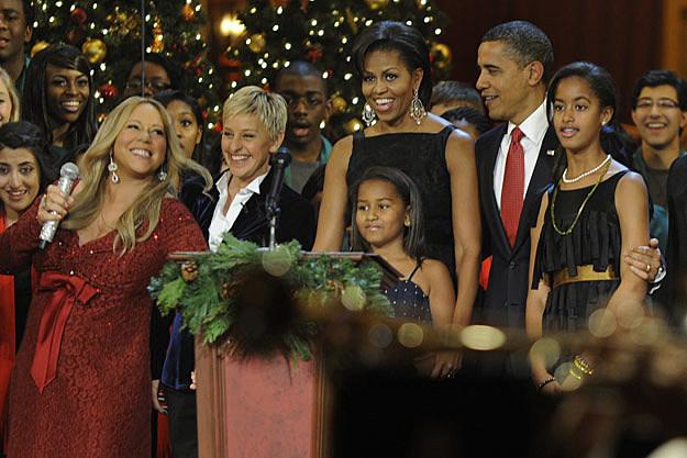 Mariah Carey Ellen Degeneres Obama Family
