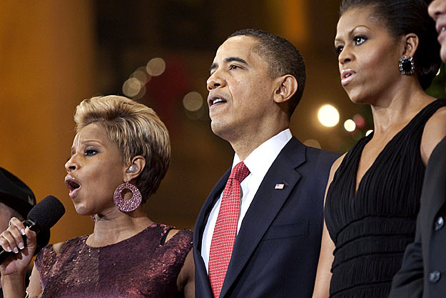 Mary J. Blige President Barack Obama First Lady Michelle Obama