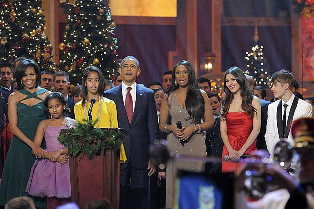 The Obama Family Jennifer Hudson Victoria Justice Justin Bieber
