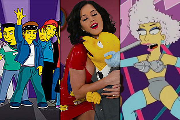 N Sync Katy Perry Lady Gaga The Simpsons