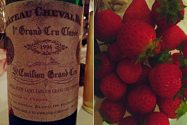 Beyonce's birthday wine and strawberries