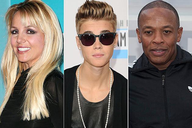 Britney-Spears-Justin-Bieber-Dr. Dre