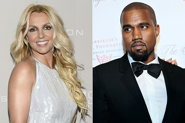 Britney Spears and Kanye West