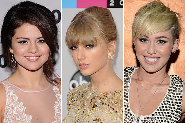 Selena Gomez Taylor Swift Miley Cyrus