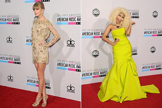 Taylor Swift Nicki Minaj American Music Awards