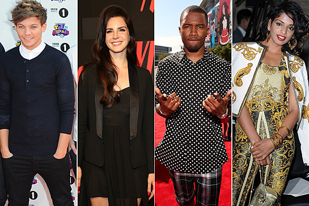One Direction Lana Del Rey Frank Ocean M.I.A.