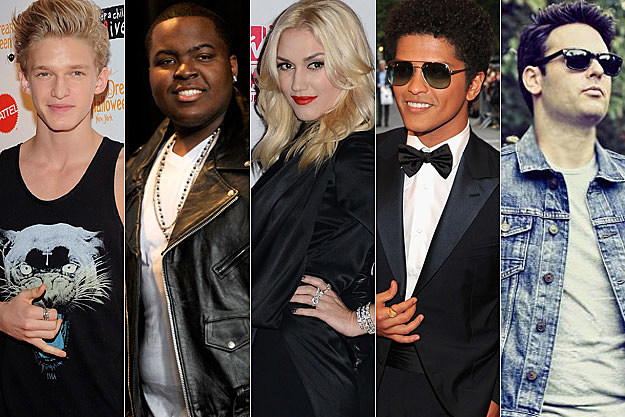 Cody Simpson Sean Kingston Gwen Stefani Bruno Mars Outasight