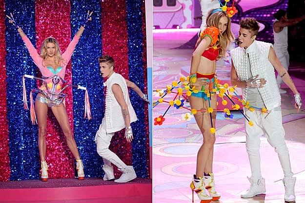 Justin Bieber Victoria's Secret Models