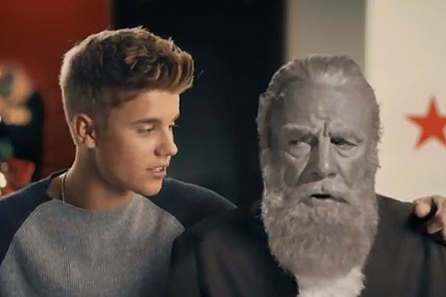 'Naughty' Justin Bieber Pleads With Santa in New Macy's Commercial
