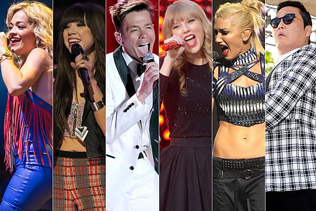 Rita Ora Carly Rae Jepsen Nate Ruess Taylor Swift Gwen Stefani Psy
