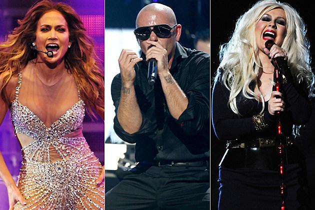 Jennifer Lopez Pitbull Christina Aguilera