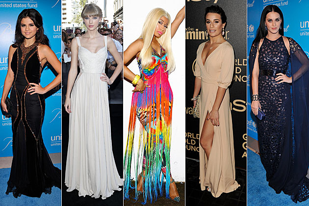 Selena Gomez Taylor Swift Nicki Minaj Lea Michele Katy Perry