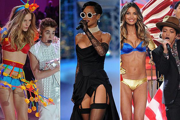 Justin Bieber, Rihanna + Bruno Mars Hit the Victoria's Secret Fashion Show Runway – Picture Perfect