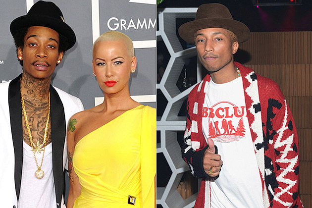 Wiz Khalifa Amber Rose Pharrell Williams