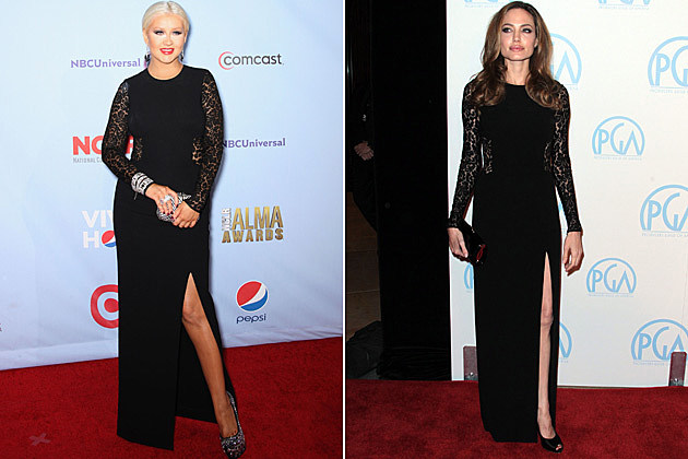 Christina Aguilera Angelina Jolie