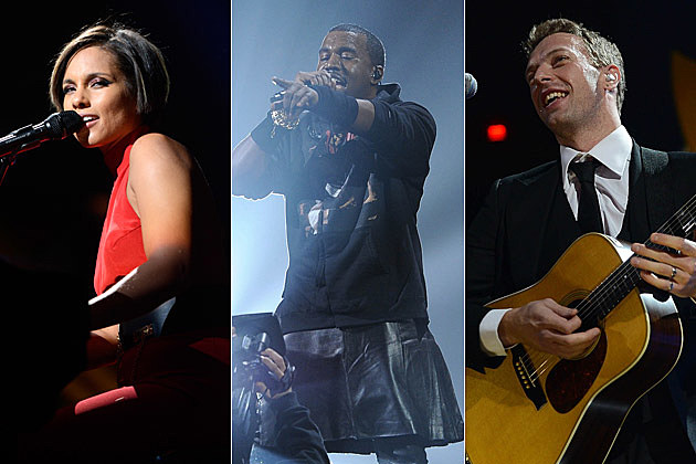 Alicia Keys Kanye West Chris Martin