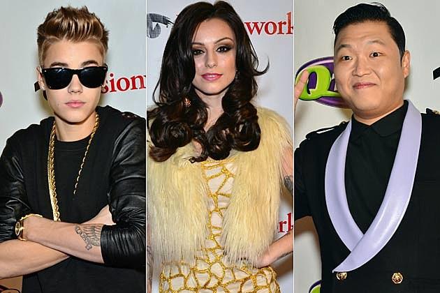 Justin Bieber Cher Lloyd Psy