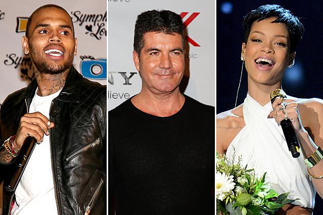 Chris Brown Simon Cowell Rihanna