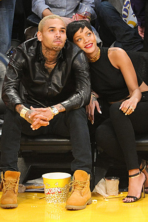 Chris Brown + Rihanna Went to the Lakers Game Together on Christmas Day