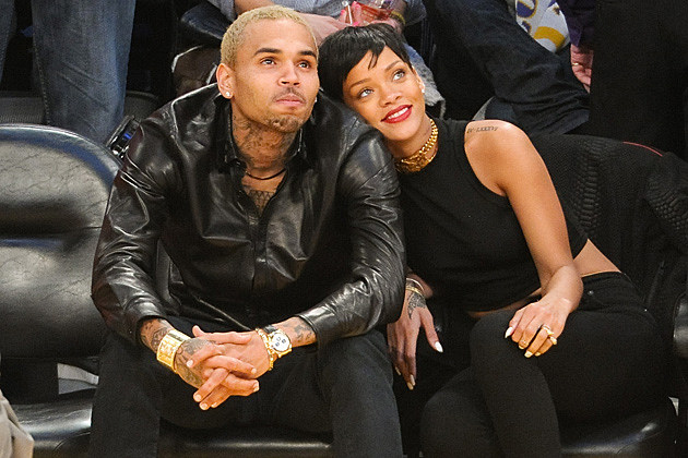 Chris Brown Rihanna Lakers Game