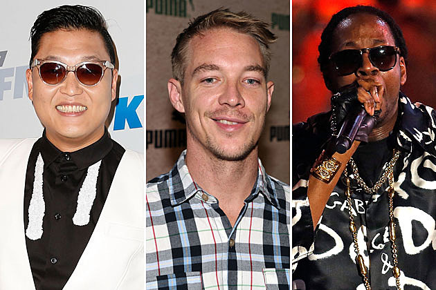 Psy, Diplo, and 2 Chainz