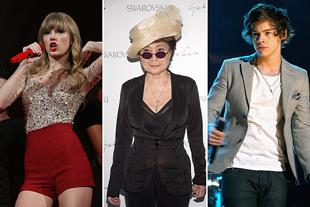 Taylor Swift Yoko Ono Harry Styles One Direction