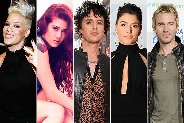 Pink Nikki Williams Billie Joe Armstrong Jessie Ware Jason Wade of Lifehouse