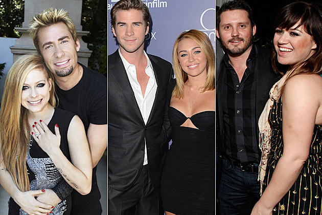 Avril Lavigne Chad Kroeger Liam Hemsworth Miley Cyrus Brandon Blackstock Kelly Clarkson