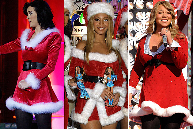 Katy Perry vs. Beyonce vs. Mariah Carey – Who Wore The Sexy Santa Costume Best?