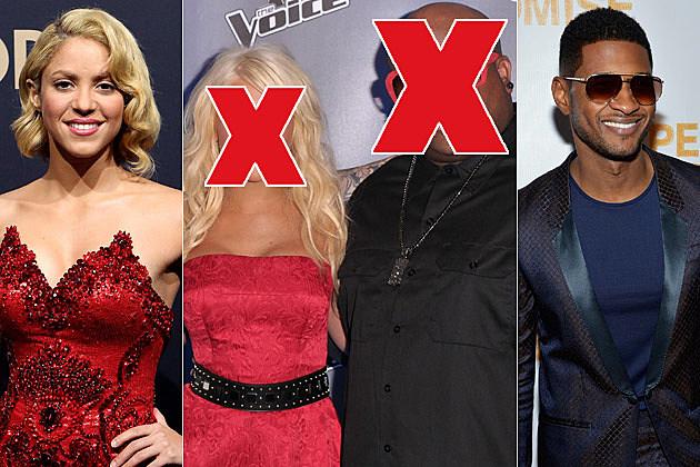 Shakira Christina Aguilera Cee Lo Green Usher