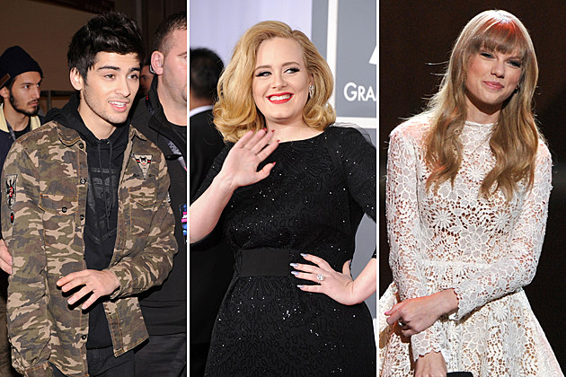 One Direction Zayn Malik Adele Taylor Swift