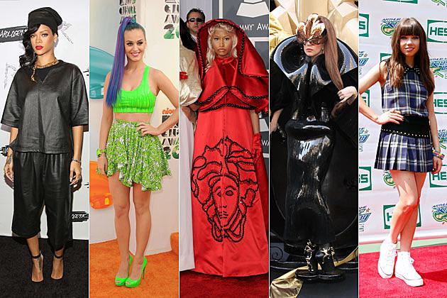 Rihanna Katy Perry Nicki Minaj Lady Gaga Carly Rae Jepsen