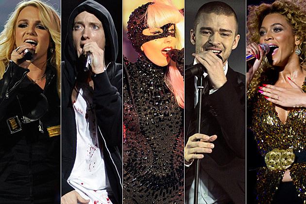 Britney Spears Eminem Lady Gaga Justin Timberlake Beyonce