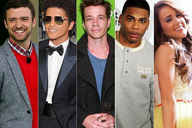 Justin Timberlake Bruno Mars Nate Ruess Nelly Britt Nicole