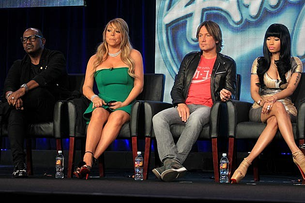 'American Idol' Judges Mariah Carey + Nicki Minaj Forced to Say Nice Things About Each Other