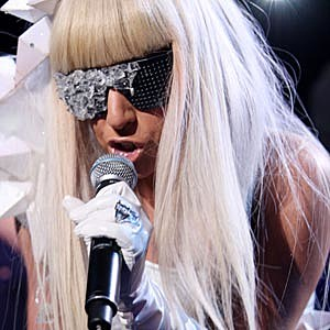 Lady Gaga Blunt Bangs