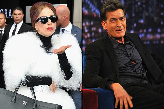 Lady Gaga Charlie Sheen