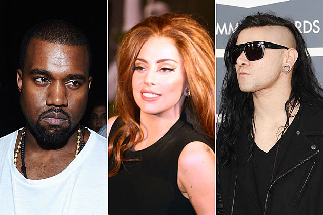 Kanye West, Lady Gaga, and Skrillex