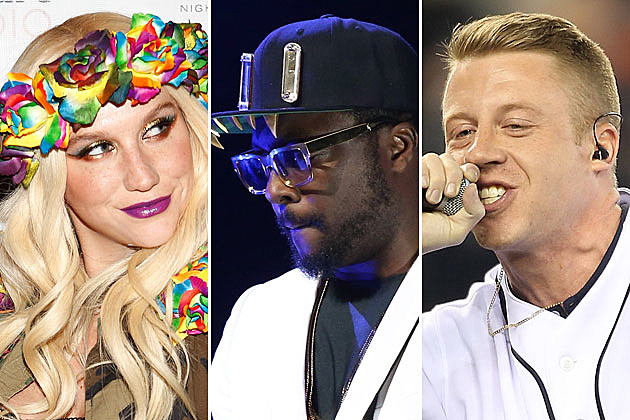 Ke$ha, will.i.am, and Macklemore