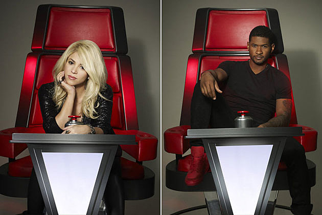 See Shakira + Usher's First Official Promo Pictures for 'The Voice'