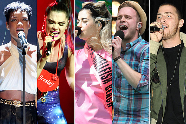 Rihanna Jessie J Marina and the Diamonds Olly Murs Mike Posner