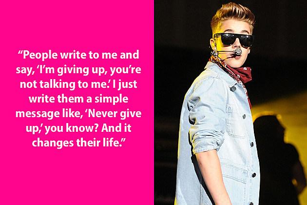 Justin Bieber Dumb Quote