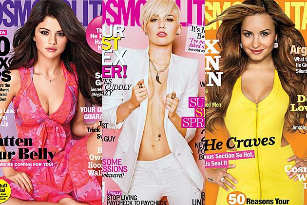 Selena Gomez Miley Cyrus Demi Lovato Cosmopolitan Covers