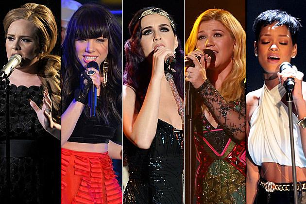 Adele Carly Rae Jepsen Katy Perry Kelly Clarkson Rihanna