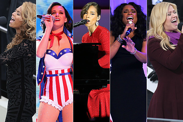 Beyonce Katy Perry Alicia Keys Jennifer Hudson Kelly Clarkson