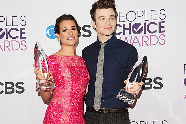 Lea Michele Chris Colfer 2013 Peoples Choice Awards